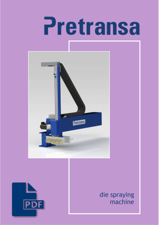 Pretransa Die Spraying Machine